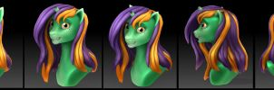 MLP: Skyrocket 3D Bust by evion