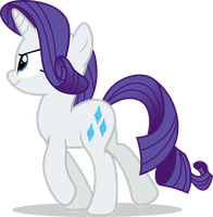 Mlp Fim Rarity (walking #2) vector by luckreza8