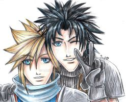 FFVIICC: Cloud and Zack BFF by DarkLitria