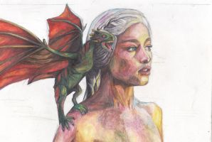 Mother Of Dragons- Daenerys Targaryen by BreakfastTears