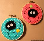 Liitle Soot Sprite Hoops by loveandasandwich