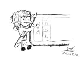 Jade loves the new drawing tablet by JadeTheAngle777