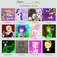Art Summary 2012 by Fainting-Ostrich
