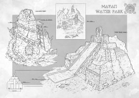 Personal Project: Mayan Water Park by Narandel