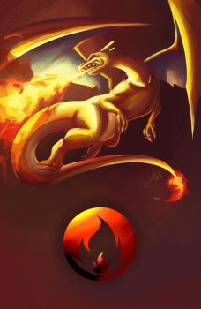 Charizard by Lyraphine