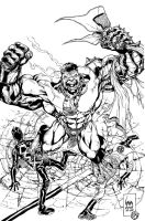 Hulk by wrathofkhan inks by BDStevens