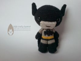 Amigurumi Dark Knight by LittleCraftySquirrel