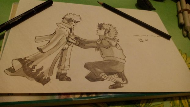 Minato and Naruto by GiGaAnime