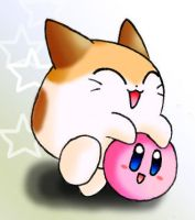 Kirby and Nago by Fushidane
