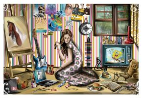 Her messy room by Artist-in-Despair