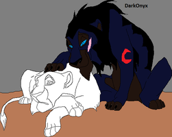 Darkonyx Lion Form And Someone Open Collab by Natalia-Clark
