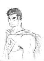 A simple Superman Sketch by lady-storykeeper