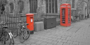 Pillarbox and Telephone Box by astrogoth13