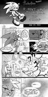 Sonic's 21st Birthday present... is a kiss? by koda-soda