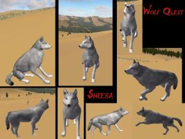 Sheeba on Wolf Quest by EmeraldsJuran