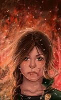 The Girl on fire by Atramina