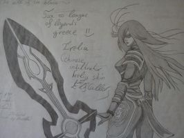 League of Legends: Chinese Infiltrator Irelia skin by ElfCaller