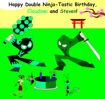 My and Steven's Double Ninja-Tastic Birthday by claudinei230