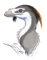 Troodon doodle by Paperiapina
