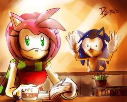 One Hour Sonic 003 - Amy and Coffee by ElsonWong
