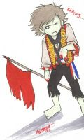 Zombie Enjolras by cillabub