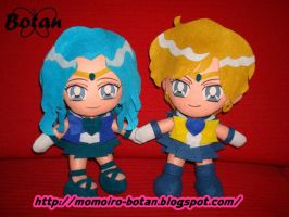 Neptune and Uranus plush ver. by Momoiro-Botan