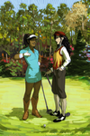 Korrasami - The Fabulous Golfing Duo by characterundefined