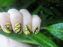 Black and yellow by NailedItWithGlitter