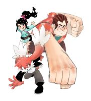 Obligatory Fan Art on Wreck-it Ralph by Zenox-furry-man