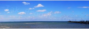 Rosebud Jetty Panorama by K-Tak