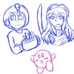 Smash 4 Mains Doodle by DictatorChocolate