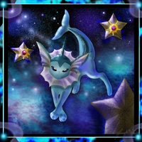 134 Vaporeon Sea and Sky by WeisseEdelweiss
