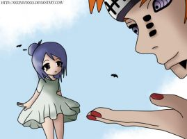 Konan x Pain - Chibi Love by XXXxVivixXXX
