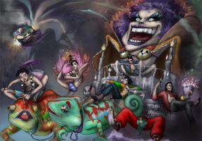 Impel Down- Carnival Escape by K-EL-P