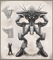 Warstrider concept by Crowsrock