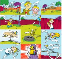 Ed, Edd and Eddy Commercial Storyboards by danyabwile