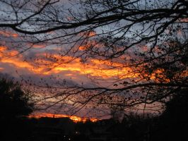 clouds on fire in Henniker by crazygardener