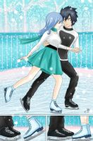 Gruvia Fluff-fest. Day 5: Ice skating by Chsabina
