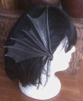 Leather Bat Wing Hair clip by NomadStudioDesigns