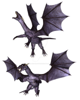 Purple Dragons PNG Exclusive 2 by CelticStrm-Stock by CelticStrm-Stock