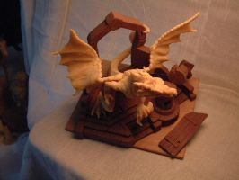 'Myths and Legends' Dragon Sculpture by Carl-Seager