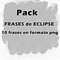 Pack de FRASES de ECLIPSE en png by Carol05