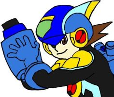Cross Fusion Megaman by tanlisette