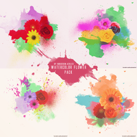 Watercolor Flowers Texture Pack by huruekrn-ackles