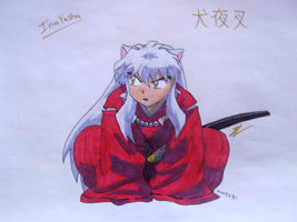 Inuyasha Copic drawing by SamColwell