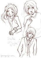 - Suichi and Sasha sketches - by Sakuli