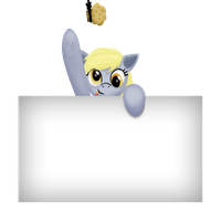 Derpy with a Blank Sign by Gennbu