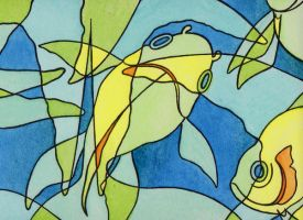 Overlapping Fish by Rowen-silver