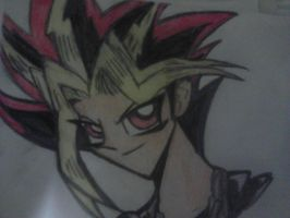Yami Yugi Bust Drawing by Darkbullfrog