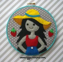 Marceline the Vampire Queen Embroidery by iggystarpup